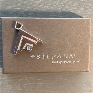 Silpada logo sterling silver pendant
